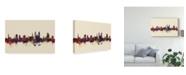 "Trademark Global Michael Tompsett St Gallen Switzerland Skyline III Canvas Art - 20"" x 25"""