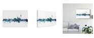 "Trademark Global Michael Tompsett Berlin Germany Skyline Blue Canvas Art - 37"" x 49"""