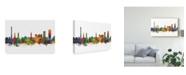 "Trademark Global Michael Tompsett Erlangen Germany Skyline II Canvas Art - 15"" x 20"""