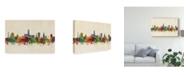 "Trademark Global Michael Tompsett Gloucester England Skyline Canvas Art - 15"" x 20"""
