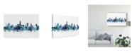 "Trademark Global Michael Tompsett Gloucester England Skyline Blue Canvas Art - 15"" x 20"""