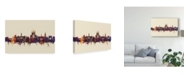 "Trademark Global Michael Tompsett Winchester England Skyline III Canvas Art - 20"" x 25"""