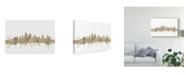 "Trademark Global Michael Tompsett Kansas City Missouri Skyline Sheet Music II Canvas Art - 20"" x 25"""