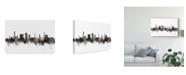 """Trademark Global Michael Tompsett Bradford England Skyline Black White Canvas Art - 15"""" x 20"""""""