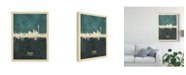 "Trademark Global Michael Tompsett Berlin Germany Skyline Teal Canvas Art - 15"" x 20"""