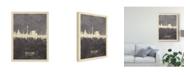 "Trademark Global Michael Tompsett Dusseldorf Germany Skyline Gray Canvas Art - 20"" x 25"""