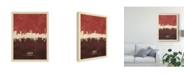 "Trademark Global Michael Tompsett Lubeck Germany Skyline Red II Canvas Art - 20"" x 25"""