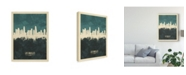 "Trademark Global Michael Tompsett Los Angeles California Skyline Teal Canvas Art - 20"" x 25"""