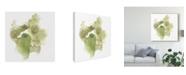 "Trademark Global June Erica Vess Foliose Gesture I Canvas Art - 15"" x 20"""