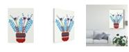 "Trademark Global Regina Moore Cheerful Succulent IV Canvas Art - 37"" x 49"""
