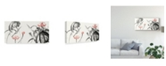"Trademark Global Nan Rae Lotus Study with Coral II Canvas Art - 37"" x 49"""