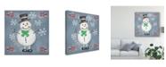 "Trademark Global Chariklia Zarris Folksy Christmas II Canvas Art - 27"" x 33"""