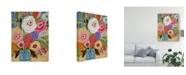 "Trademark Global Karen Fields Fresh Flowers in Vase II Canvas Art - 20"" x 25"""