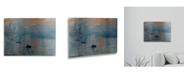 """Trademark Global Claude Monet Impression Sunrise Floating Brushed Aluminum Art - 22"""" x 25"""""""