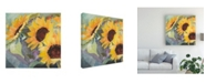 "Trademark Global Sandra Iafrate Sunflowers in Watercolor I Canvas Art - 15"" x 20"""