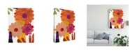 "Trademark Global Regina Moore Fiesta Floral I Canvas Art - 15"" x 20"""