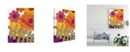 "Trademark Global Regina Moore Fiesta Floral IV Canvas Art - 20"" x 25"""
