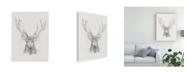 "Trademark Global Ethan Harper Contemporary Elk Sketch II Canvas Art - 15"" x 20"""