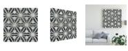 "Trademark Global June Erica Vess Neutral Tile Collection IX Canvas Art - 20"" x 25"""