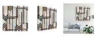 "Trademark Global June Erica Vess Deco Abstraction I Canvas Art - 20"" x 25"""