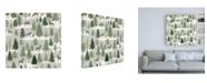 "Trademark Global Laura Marshall Christmas Village Pattern XI Canvas Art - 36.5"" x 48"""