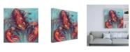 "Trademark Global Jeanette Vertentes Red Lobster Canvas Art - 15.5"" x 21"""