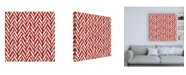 "Trademark Global Veronique Charron Festive Forest Pattern VIB Canvas Art - 15.5"" x 21"""