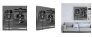 """Trademark Global Roderick Stevens Black & White Faucet Canvas Art - 36.5"""" x 48"""""""