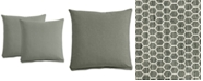 "Furniture Polyfill 21"" Fabric Pillows (Set of 2), Created for Macy's"