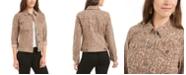 Style & Co Petite Animal-Print Denim Jacket, Created for Macy's