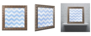 """Trademark Global Color Bakery 'Xmas Chevron 3' Ornate Framed Art - 11"""" x 11"""""""