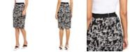 Alfani Printed Jacquard Pencil Skirt, Created for Macy's