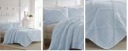 Laura Ashley Maisy Blue Quilt Set, King
