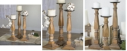 VIP Home & Garden 3-Piece Wood Candle Holders
