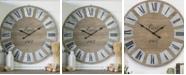 VIP Home & Garden Wood Round Clock
