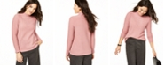 Charter Club Cashmere Mock-Neck Cable Sweater, Created for Macy's