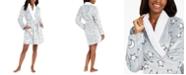 Jenni Star Print Plush Short Robe, Created for Macy's