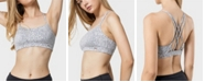 Yvette Women Criss Cross Back No Bounce Wirefree Yoga Sports Bra for Pilates Walking