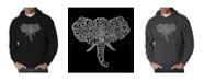 LA Pop Art Men's Word Art Hoodie - Elephant Tusks
