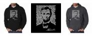 LA Pop Art Men's Word Art Hoodie - Abraham Lincoln