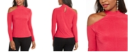 Thalia Sodi Cold-Shoulder Mock-Neck Top, Created for Macy's