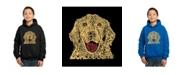 LA Pop Art Boy's Word Art Hoodies - Dog