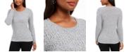 Karen Scott Cotton Marled-Knit Sweater, Created for Macy's