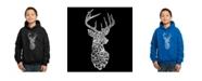 LA Pop Art Boy's Word Art Hoodies - Types of Deer