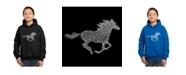 LA Pop Art Boy's Word Art Hoodies - Horse Breeds