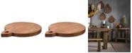 "Villa2 VILLA 2 Solid Wood Chopping Board with 0.5"" Wooden Legs"
