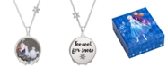"Disney Children's Frozen Olaf Crystal Pendant in Sterling Silver, 16"" + 2"" Extender"