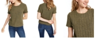 Almost Famous Crave Fame Juniors' Cozy Ribbed Top