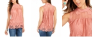 Style & Co Lace-Trim Top, Created for Macy's