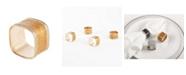 Saro Lifestyle Sparkling Square Design Napkin Ring, Set of 4